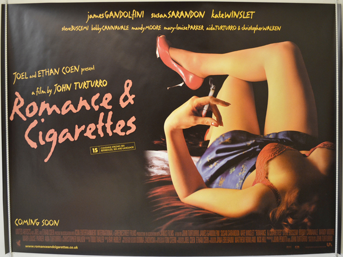 Romance and cigarettes movie posters