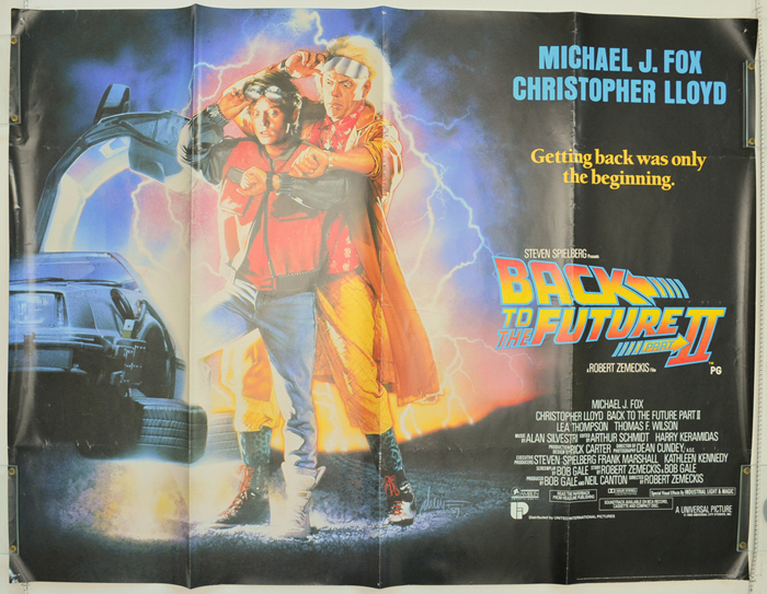 Back to the future part ii original cinema movie poster from