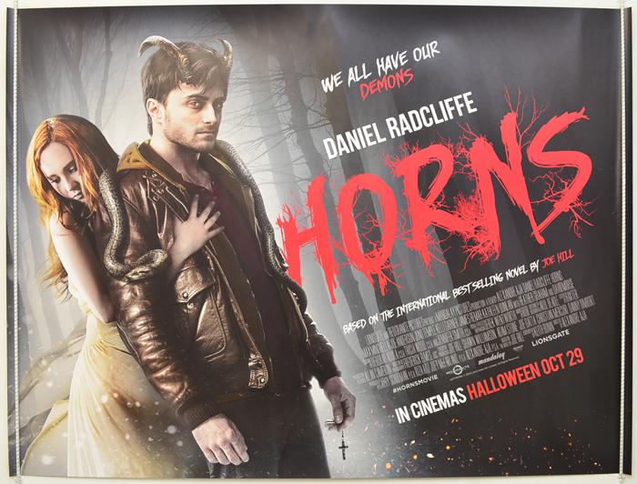 Horns - Original Cinema Movie Poster From pastposters.com ... Horns Movie Poster