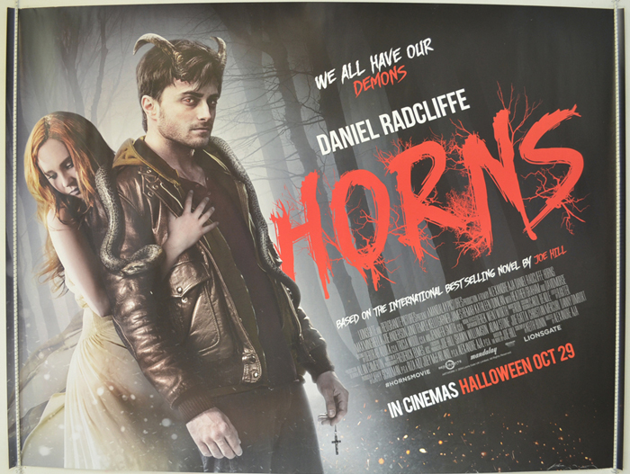 Horns - Original Cinema Movie Poster From pastposters.com ... Horns Movie Poster
