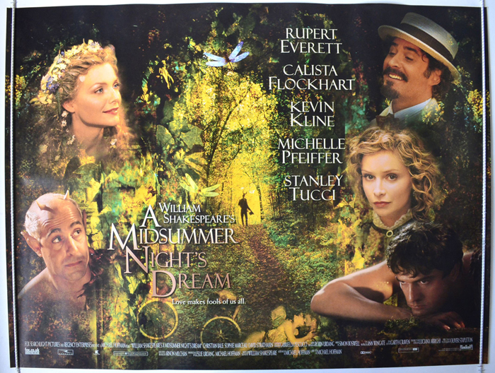 Movie Posters 1999: A MIDSUMMER NIGHT'S DREAM (1999) Original Quad Film Poster