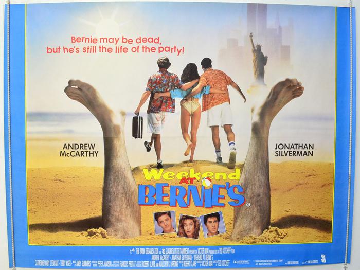 weekend at bernies original cinema movie poster from