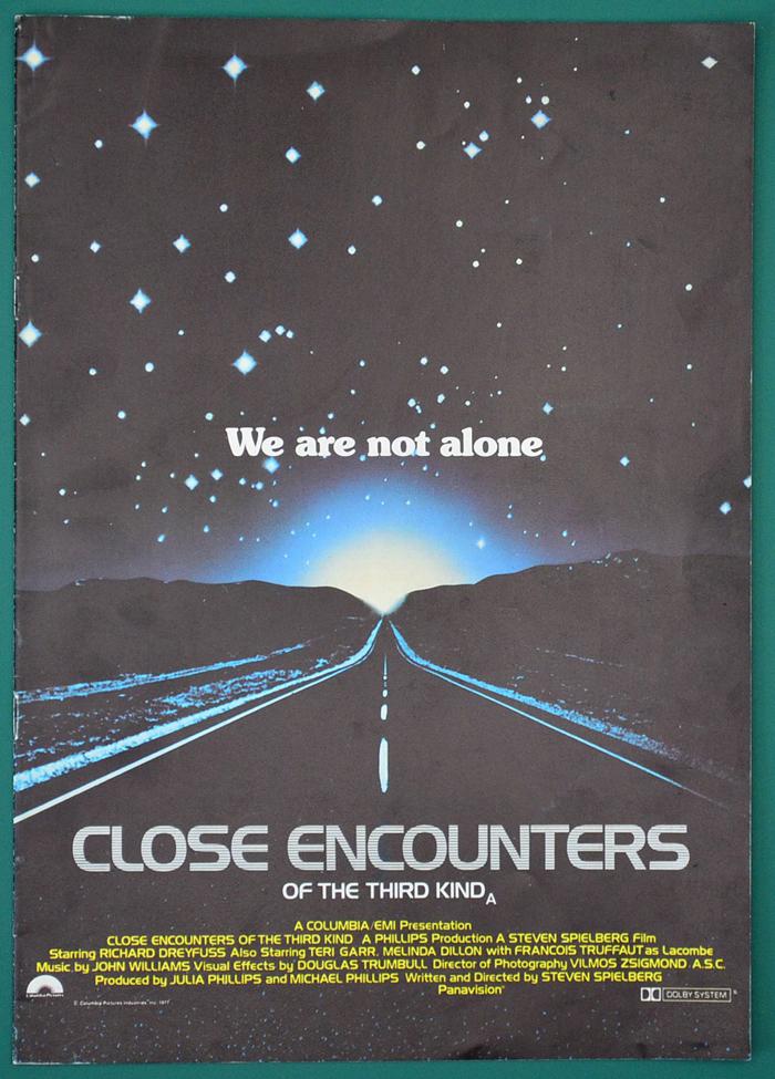Close Encounters Of The Third Kind Original 12 Page Cinema ...