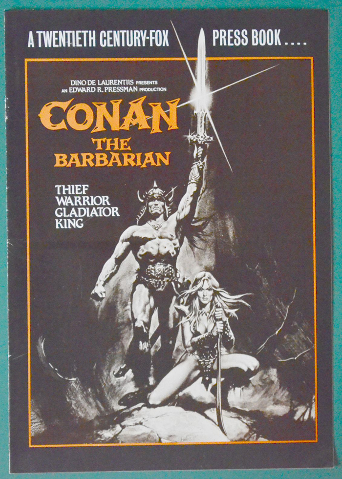 conan the barbarian original 8 page cinema exhibitor u0026 39 s