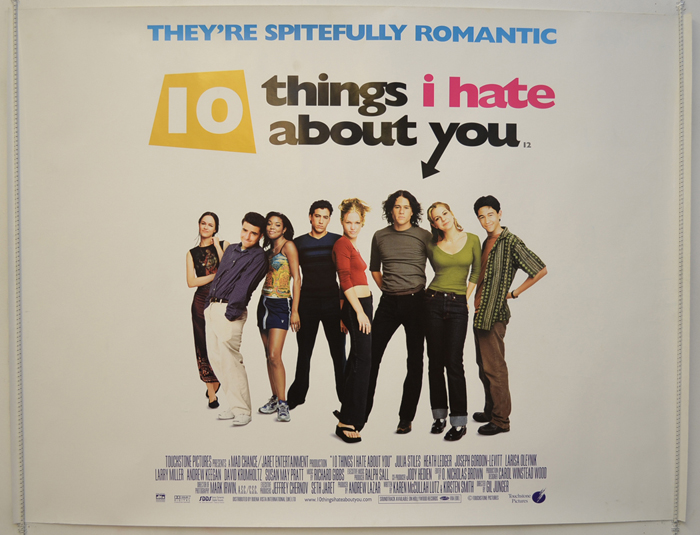 Ten Things I Hate About You Film Stills: Original Cinema Movie Poster