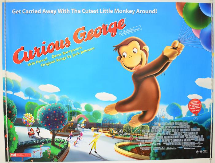 curious george original cinema movie poster from