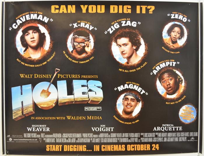 Holes - Original Cinema Movie Poster From pastposters.com British ...
