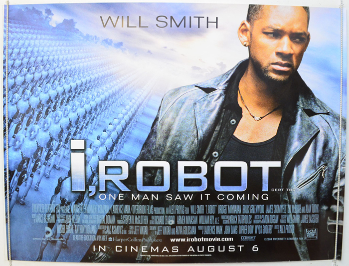 i robot original cinema movie poster from british quad posters and us 1 sheet. Black Bedroom Furniture Sets. Home Design Ideas