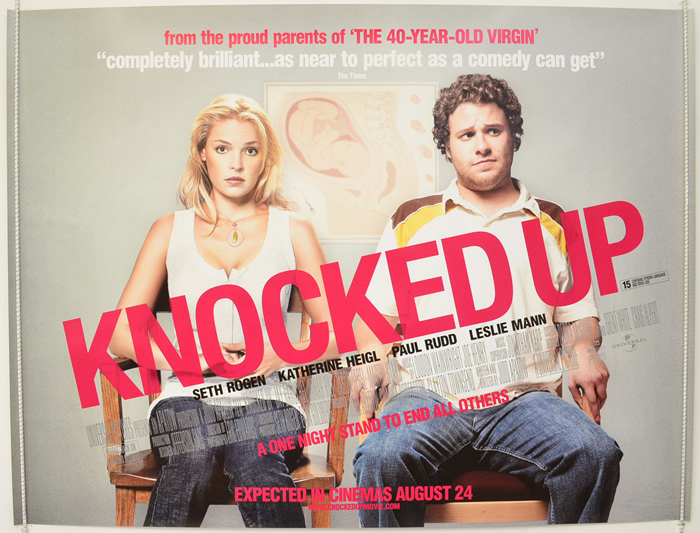 knocked up original cinema movie poster from pastposters