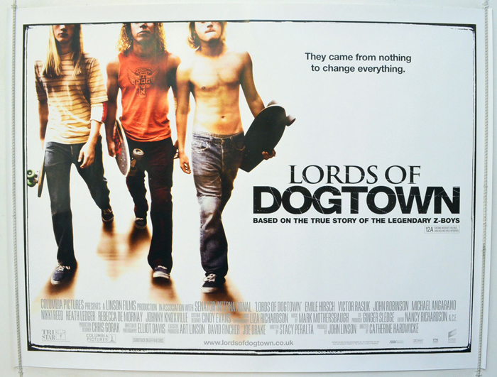 lords of dogtown original cinema movie poster from