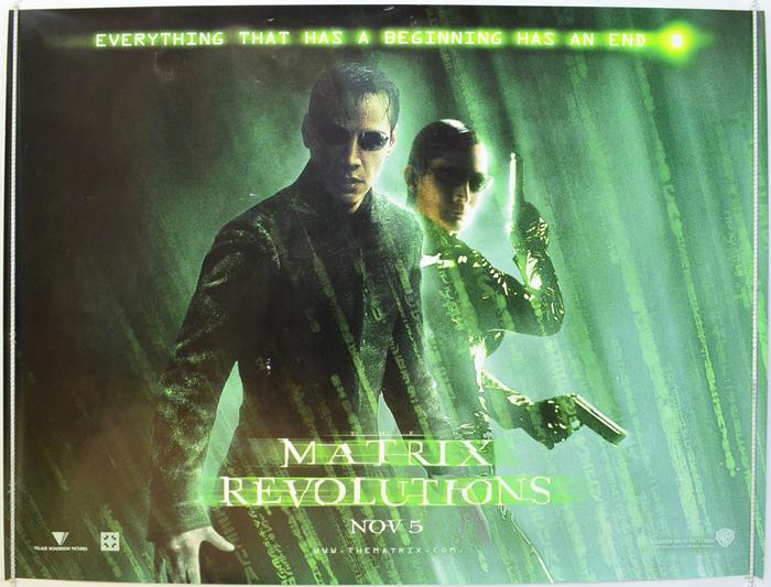 Matrix Revolutions (The) - Original Cinema Movie Poster ...