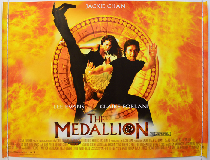 Movie Posters 2003: THE MEDALLION (2003) Original Quad Movie Poster