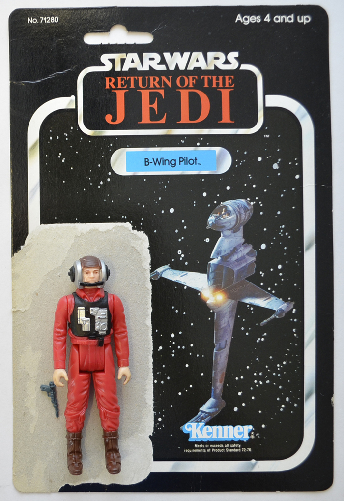 Vintage Star Wars Figure - B WING PILOT