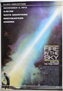 Fire In The Sky <p><i> (USA Subway One Sheet)