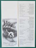 Airplane <p><i> Original Cinema Synopsis / Credits Leaflet  </i></P>