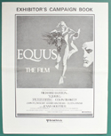 Equus <p><i> Original 6 Page Cinema Exhibitor's Campaign Press Book </i></p>