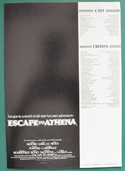 Escape To Athena <p><i> Original 4 Page Cinema Exhibitor's Campaign Press Book </i></p>