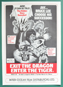 Exit The Dragon Enter The Tiger <p><i> Original 4 Page Cinema Exhibitor's Campaign Press Book </i></p>