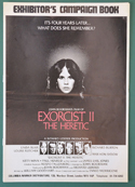 Exorcist II : The Heretic <p><i> Original 8 Page Cinema Exhibitors Campaign Press Book </i></p>