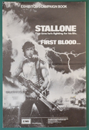 First Blood <p><i> Original 6 Page Cinema Exhibitors Campaign Press Book </i></p>