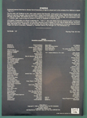 The Fly  - Synopsis Sheet - Back