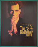 THE GODFATHER Part III - Synopsis Booklet - Front
