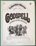 Godspell <p><i> Original 8 Page Cinema Exhibitors Campaign Press Book </i></p>