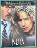 Nuts <p><i>Original Cinema Exhibitors Synopsis / Credits Card<br>+ 30 Page Production Info</i></p>