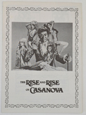 Rise Of Casanova (The) <p><i> Original Synopsis / Credits Leaflet + Advertising Blocks Sheet </i></p>