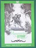 Romancing The Stone  <p><i> Original 8 Page Cinema Exhibitors Campaign Press Book  </i></p>