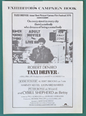 Taxi Driver <p><i> Original 4 Page Cinema Exhibitors Campaign Press Book </i></p>