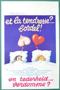Et la tendresse?... Bordel! <p><i> (Original Belgian Movie Poster) </i></p>