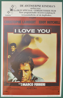 I Love You <p><i> (Original Belgian Movie Poster) </i></p>