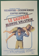 Le Sauvage <p><i> (Original Belgian Movie Poster) </i></p>