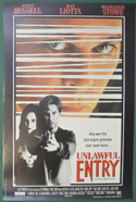 Unlawful Entry <p><i> (Original Belgian Movie Poster) </i></p>