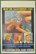 What The Peeper Saw <p><i> (Original Belgian Movie Poster) </i></p>