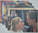 Basic Instinct <p><a> Set of 6 Original Colour Front Of House Stills / Lobby Cards  </i></p>