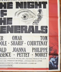 THE NIGHT OF THE GENERALS – 6 Sheet Poster – BOTTOM Right