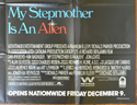 MY STEPMOTHER IS AN ALIEN – Subway Poster – BOTTOM Right