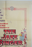 THE JAZZ SINGER (Top Right) Cinema One Sheet Movie Poster