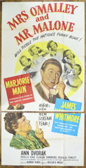 MRS. O'MALLEY AND MR. MALLONE – 3 Sheet Poster