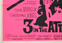 3 IN THE ATTIC (Bottom Left) Cinema Quad Movie Poster