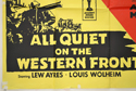 ALL QUIET ON THE WESTERN FRONT / TO HELL AND BACK (Bottom Left) Cinema Quad Movie Poster