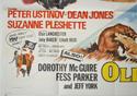 BLACKBEARD'S GHOST / OLD YELLER (Bottom Left) Cinema Quad Movie Poster