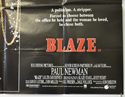 BLAZE (Bottom Right) Cinema Quad Movie Poster
