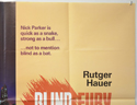 BLIND FURY (Top Right) Cinema Quad Movie Poster