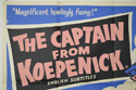 THE CAPTAIN FROM KOEPENICK (Top Left) Cinema Quad Movie Poster