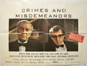 CRIMES AND MISDEMEANORS Cinema Quad Movie Poster