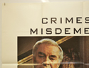 CRIMES AND MISDEMEANORS (Top Left) Cinema Quad Movie Poster