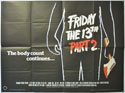 FRIDAY THE 13TH PART 2 Cinema Quad Movie Poster